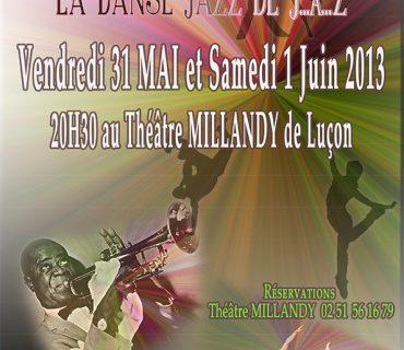 Affiche spectacle danse le jazz de j à z