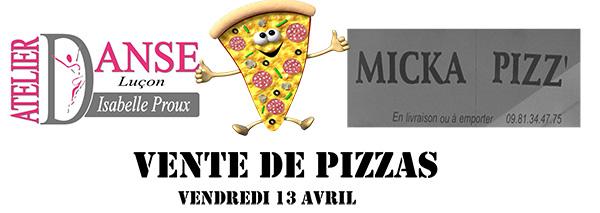 Vente de pizzas à Luçon