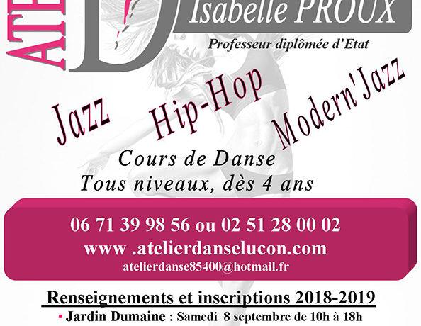Affiche inscription atelier danse 2018 2019