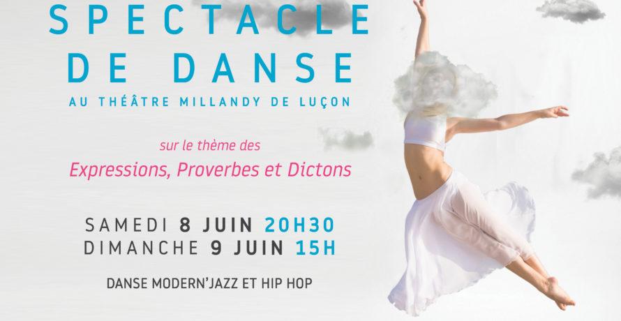 affiche spectacle atelier danse 2019
